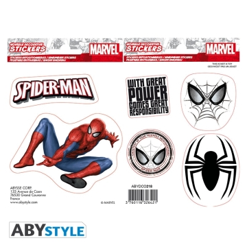 Наклейки ABYstyle Marvel Stickers Spider Man 436