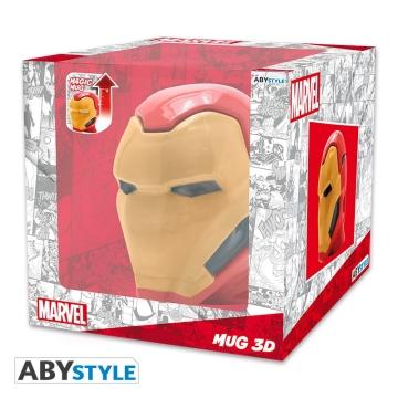Кружка ABYstyle Mug 3D Marvel Iron Man 421