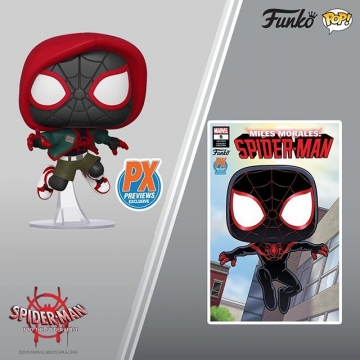 Фигурка Funko POP! Spider Man: Miles Morales with Variant Comic (Previews Exclusive) 43007