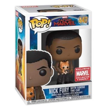 Фигурка Funko POP! Marvel: Nick Fury with Goose The Cat Exclusive 37508 - B