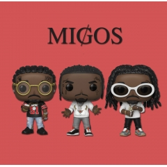 Фигурка Funko POP! Music: Migos: Complete Set of 3: Takeoff, Offset, Quavo 37855