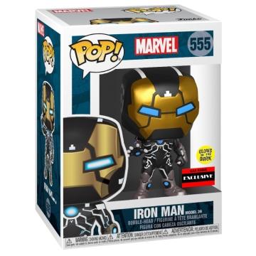 Фигурка Funko POP! Bobble: Marvel 80th: Iron Man Model 39 Glow in the Dark (Exclusive) 43965