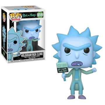 Фигурка Funko POP! Rick and Morty: Hologram Rick Clone 44252