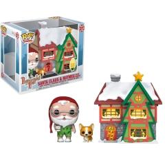 Фигурка Funko POP! Vinyl: Town: Holiday: Santas House with Santa and Nutmeg 44423