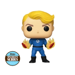 Фигурка Funko POP! Bobble: Marvel: Fantastic Four: Human Torch Suited (Specialty Series) 45006