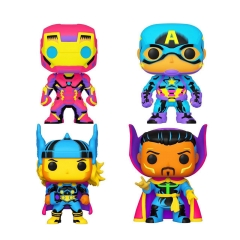 Фигурки Funko POP! Complete Set of 4: Black Light 48845