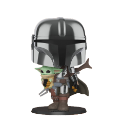 Фигурка Funko POP! Star Wars: The Mandalorian: Chrome Mandalorian 10 Inch 49931