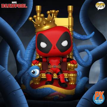 Фигурка Funko POP! Marvel Heroes: King Deadpool on Throne Exclusive 52266