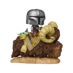 Фигурка Funko POP! Star Wars: The Mandalorian: Mando on Bantha with Child in Bag 52373