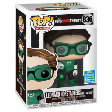 Фигурка Funko POP! Vinyl: Television: Big Bang Theory: Leonard as Green Lantern (2019 Summer Convention Exclusive) 836