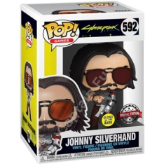 Фигурка Funko POP! Cyberpunk 2077: Johnny Silverhand with gun metalic Exclusive 51653