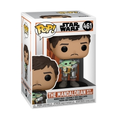 Фигурка Funko POP! Star Wars: The Mandalorian: Mando Holding Child 54525