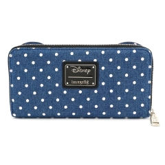 Сумка Loungefly Minnie Mouse Denim Zip Around Purse WDWA1069