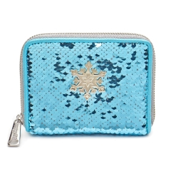Кошелек Loungefly Disney Frozen Elsa Reversible Sequin Wallet WDWA1143