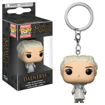 Брелок Funko Pocket POP! Keychain: Game of Thrones: Daenerys (White Coat) 31813-PDQ