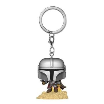 Брелок Funko Pocket POP! Keychain: Star Wars: The Mandalorian with blaster 53046