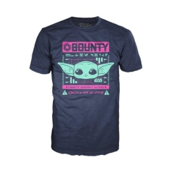 Футболка Funko POP! T-Shirt: Star Wars: The Mandalorian: Bounty The Child Navy 50437