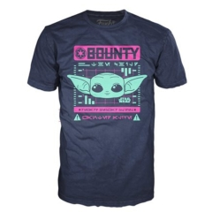 Футболка Funko POP! T-Shirt: Star Wars: The Mandalorian: Bounty The Child Navy 50437