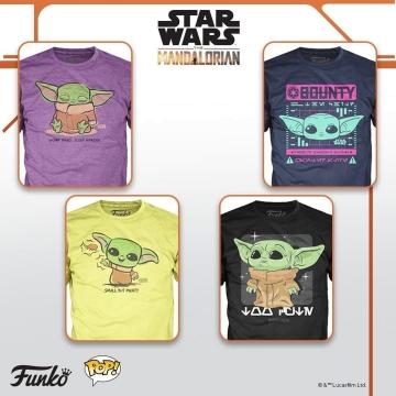 Футболка Funko POP! T-Shirt: Star Wars: The Mandalorian: The Child Small But Mighty 50449