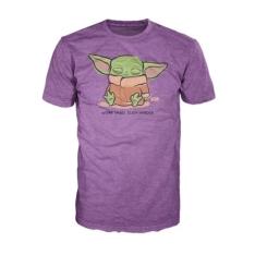 Футболка Funko POP! T-Shirt: Star Wars: The Mandalorian: The Child Sleeping Purple 50585
