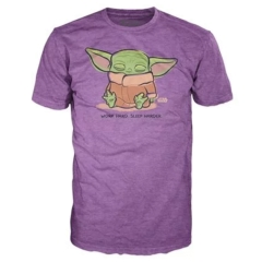 Футболка Funko POP! T-Shirt: Star Wars: The Mandalorian: The Child Sleeping Purple 50585