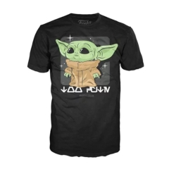 Футболка Funko POP! T-Shirt: Star Wars: The Mandalorian: The Child Black 50591