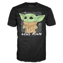 Футболка Funko POP! T-Shirt: Star Wars: The Mandalorian: The Child Black 50591